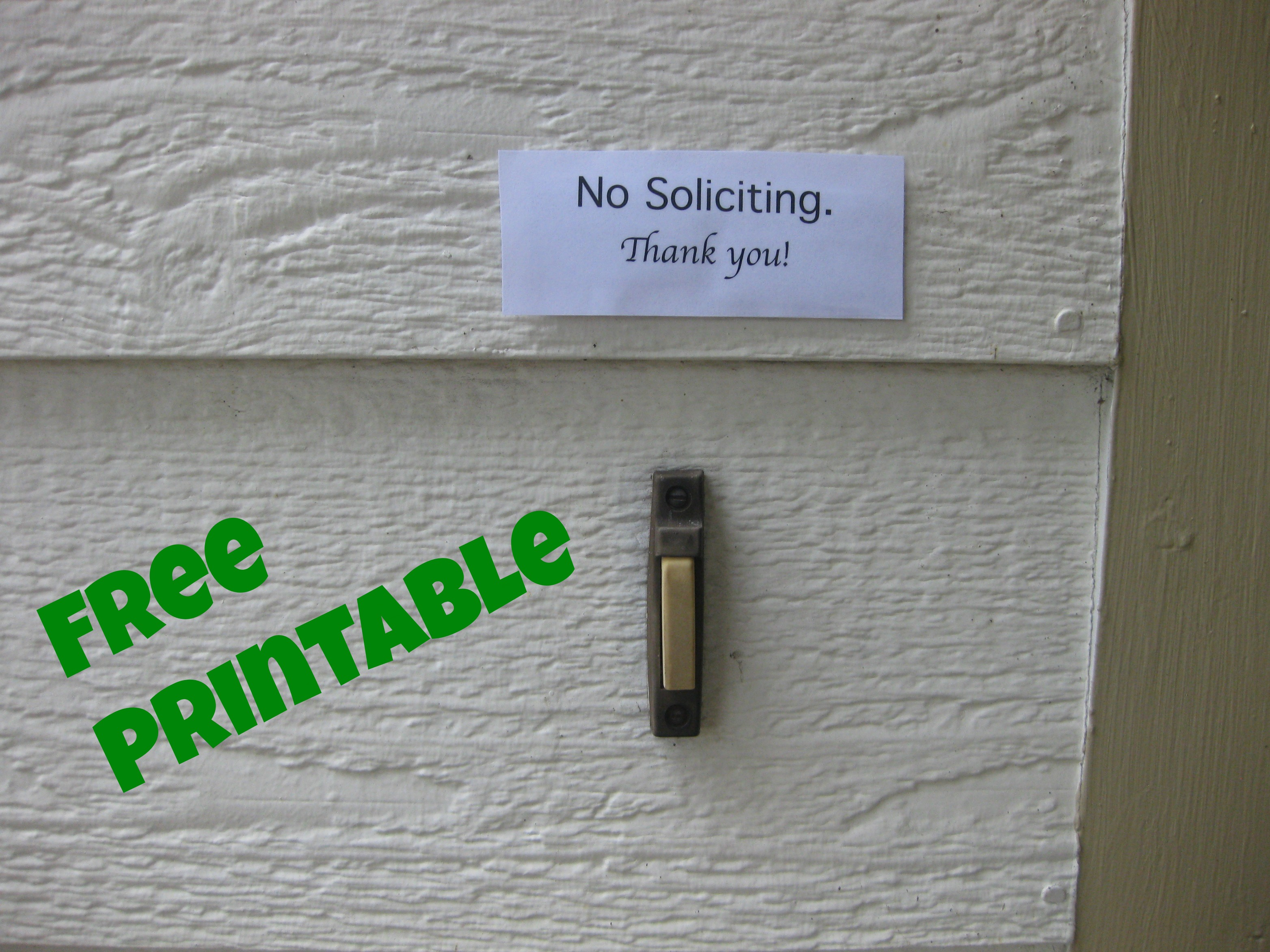 picture regarding Free Printable Door Signs known as Free of charge Printable- No Soliciting Signal