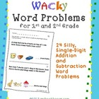 Wacky Word Problems for 1st and 2nd Grade
